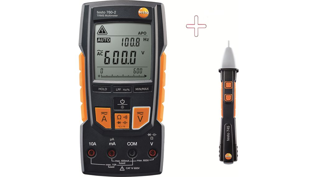 Įsigykite Multimeter digital with Non-contact Voltage Tester TRMS AC+DC 600 VAC 600 VDC